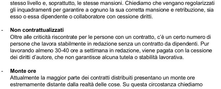 Lettera dipendenti Vice Italia