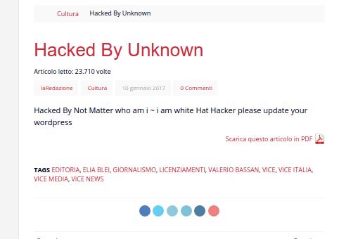 hacker censura articolo licenziamenti vice italia