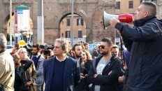 Forza Nuova Roberto Fiore Porta Maggiore San Lorenzo Roma