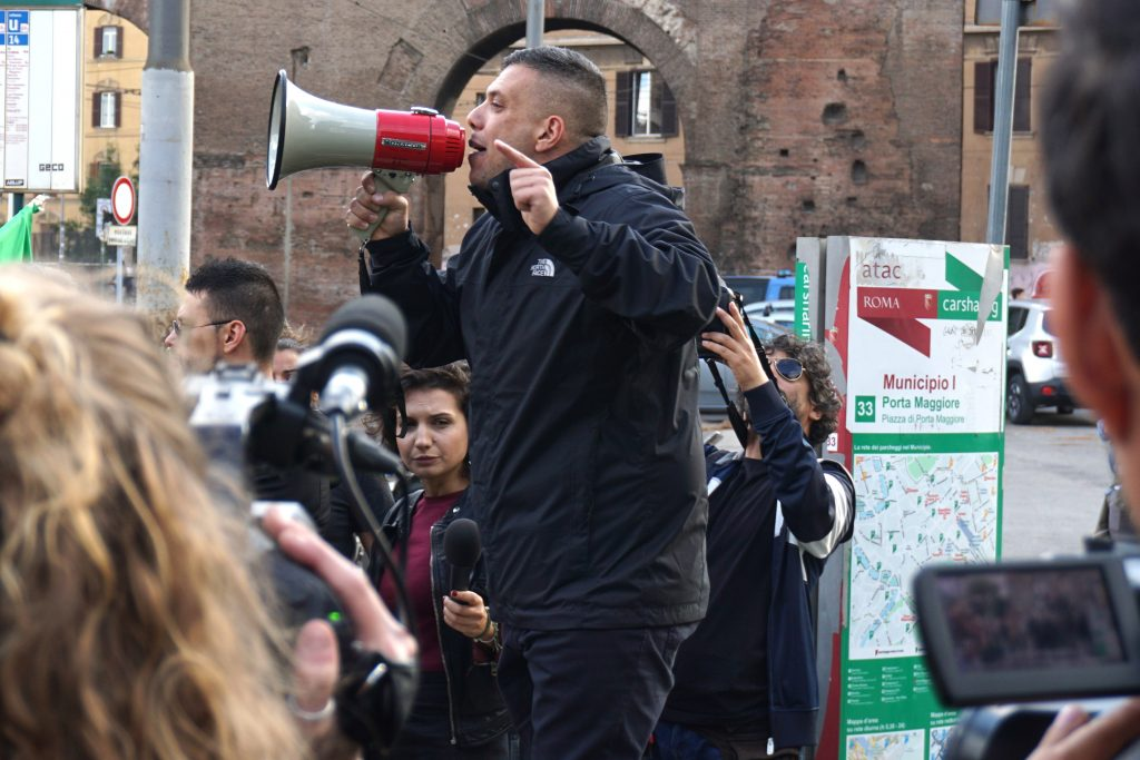 Giuliano Castellino Forza Nuova San Lorenzo Roma
