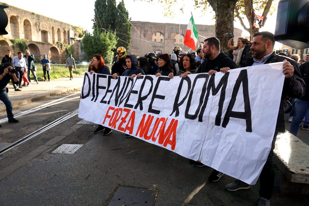 Forza Nuova manifestazione San Lorenzo Roma