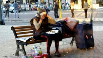 Carmen Homeless senzatetto Largo Preneste Roma